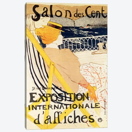 Poster advertising the 'Exposition Internationale d'Affiches', Paris, c.1896  Canvas Print #BMN316} by Henri de Toulouse-Lautrec Canvas Print