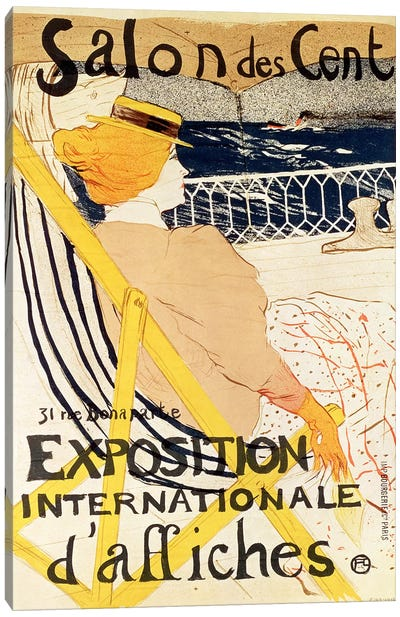 Poster advertising the 'Exposition Internationale d'Affiches', Paris, c.1896 by Henri de Toulouse-Lautrec Canvas Print