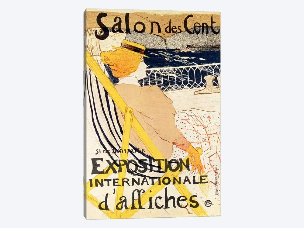 Poster advertising the 'Exposition Internationale d'Affiches', Paris, c.1896  by Henri de Toulouse-Lautrec 1-piece Canvas Wall Art