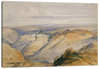 Jerusalem, 1845 Canvas Art Print