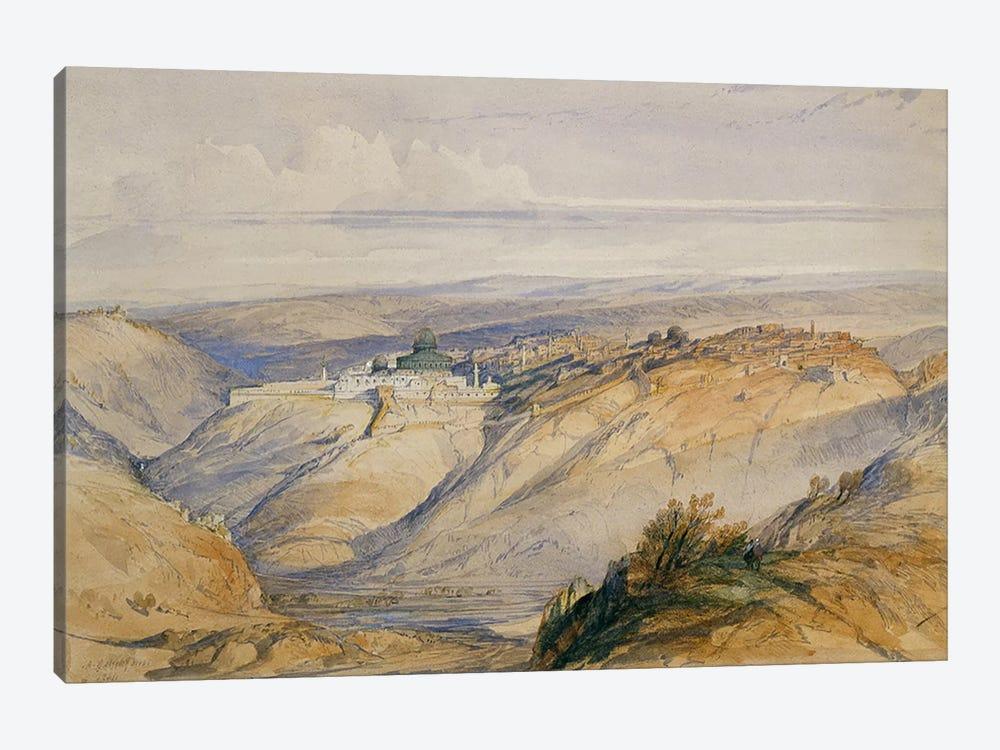 Jerusalem, 1845  by David Roberts 1-piece Canvas Art