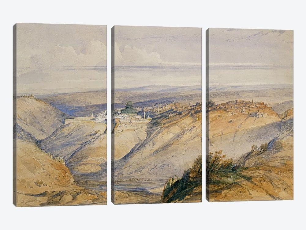 Jerusalem, 1845  by David Roberts 3-piece Canvas Art
