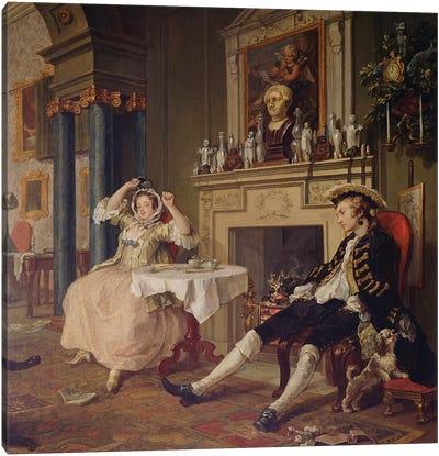 Marriage a la Mode:II- The Tete a Tete, c.1743   Canvas Art Print