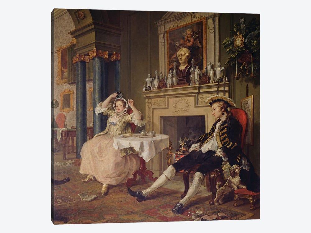 Marriage a la Mode:II- The Tete a Tete, c.1743   by William Hogarth 1-piece Canvas Artwork