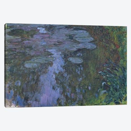 Nympheas  3-Piece Canvas #BMN3182} by Claude Monet Canvas Art