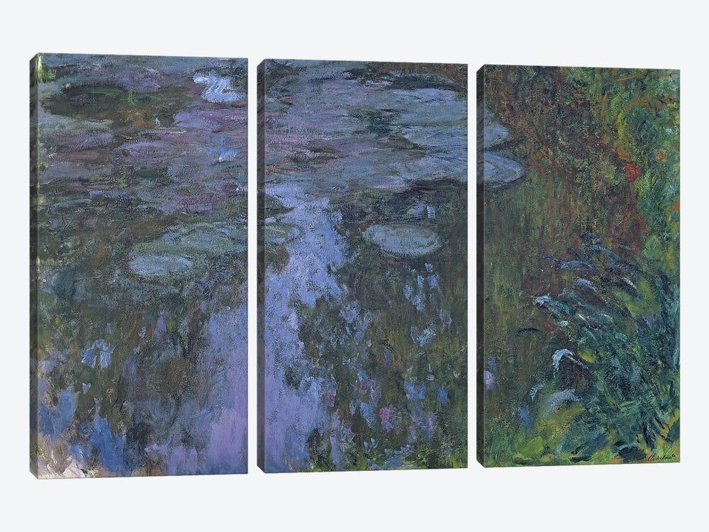 Nympheas  by Claude Monet 3-piece Canvas Wall Art