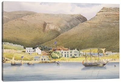 The Admiral House, Simon's Town, Cape of Good Hope, 1844  Canvas Art Print