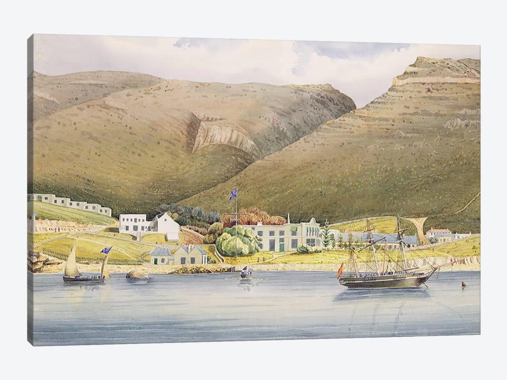 The Admiral House, Simon's Town, Cape of Good Hope, 1844  by Lt. Humphrey John Julian 1-piece Canvas Artwork