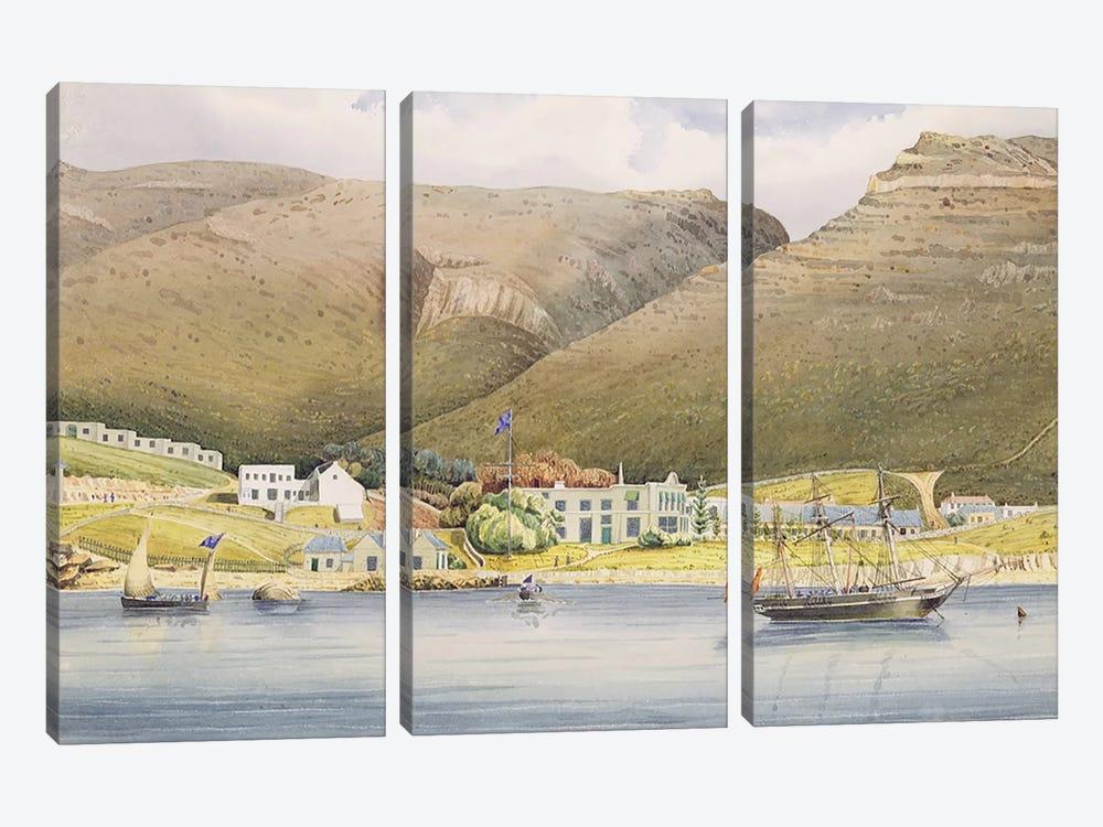 The Admiral House, Simon's Town, Cape of Good Hope, 1844  by Lt. Humphrey John Julian 3-piece Canvas Art