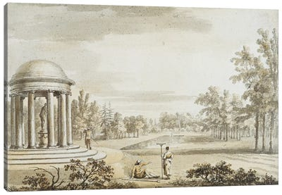 The Rotunda and the Queen's Theatre, Stowe, 1753  Canvas Art Print