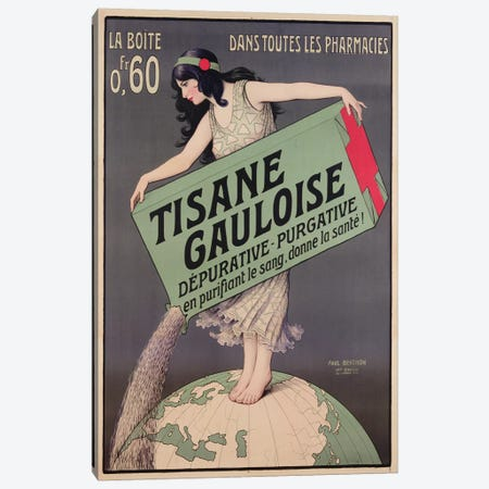 Poster advertising Tisane Gauloise, printed by Chaix, Paris, c.1900  Canvas Print #BMN3189} by Paul Berthon Canvas Art