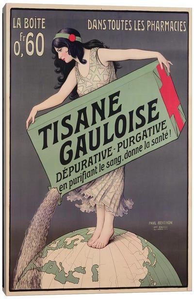Poster advertising Tisane Gauloise, printed by Chaix, Paris, c.1900  Canvas Art Print