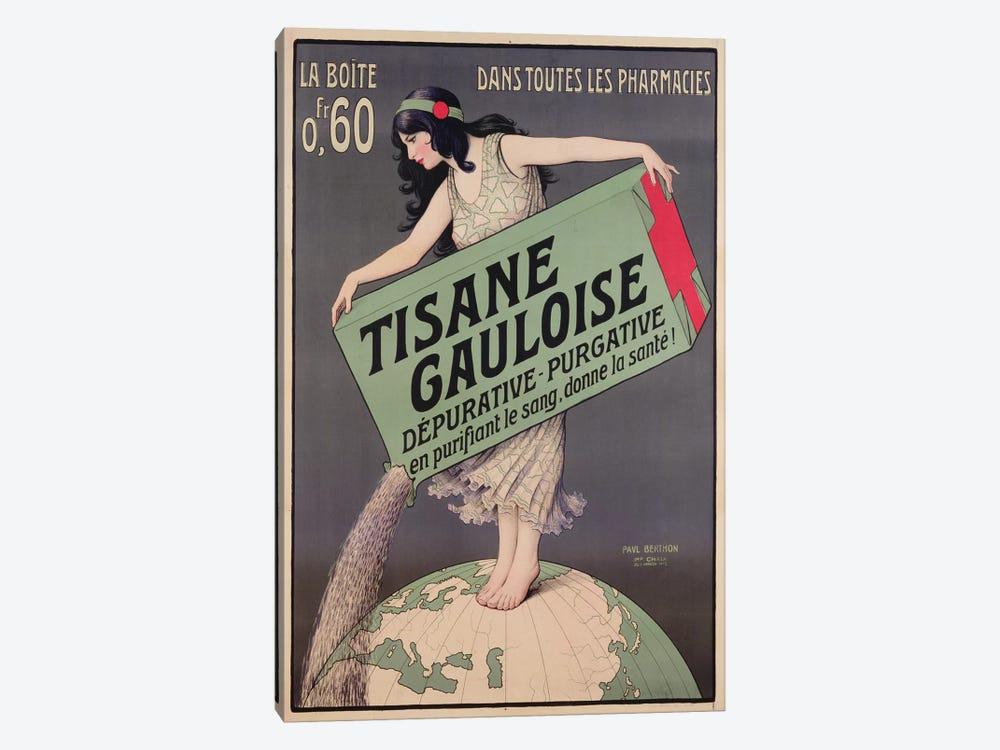 Poster advertising Tisane Gauloise, printed by Chaix, Paris, c.1900  by Paul Berthon 1-piece Canvas Art Print