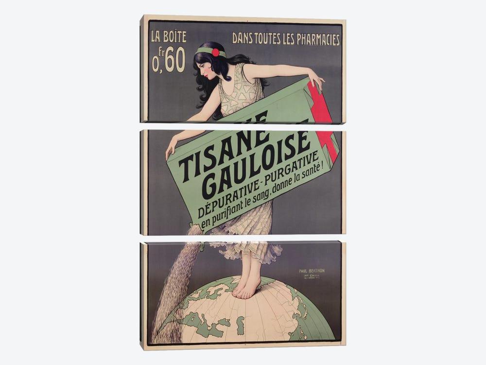 Poster advertising Tisane Gauloise, printed by Chaix, Paris, c.1900  by Paul Berthon 3-piece Art Print