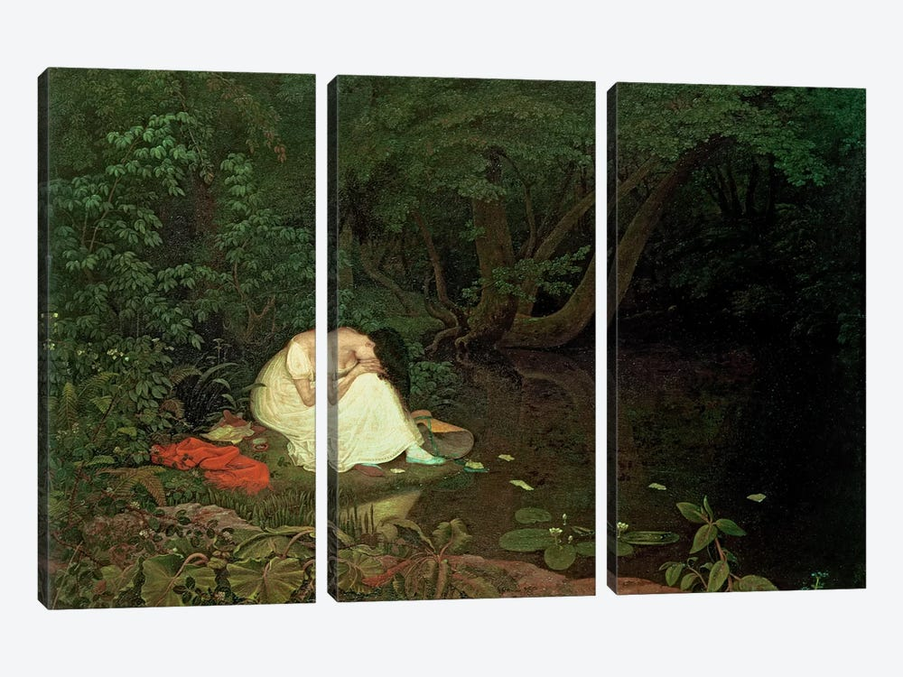 Disappointed love, 1821 3-piece Canvas Wall Art