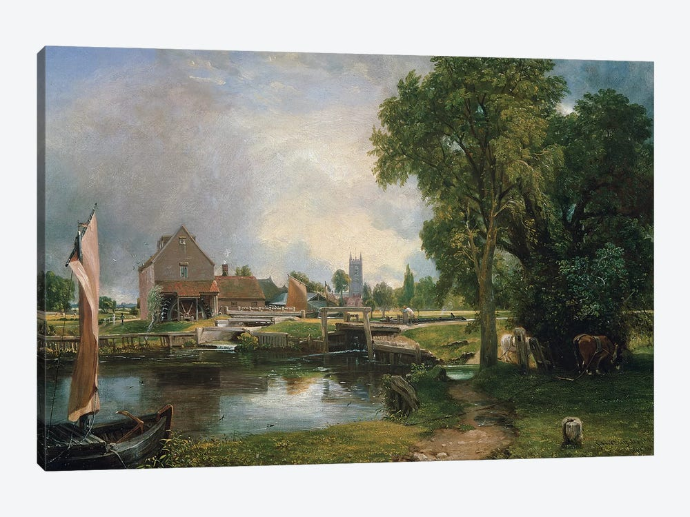 Dedham Lock and Mill, 1820  by John Constable 1-piece Art Print