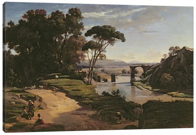 The Bridge at Narni, c.1826-27  Canvas Art Print