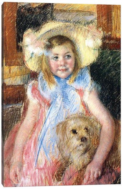 Sara and her Dog, c.1901  Canvas Art Print