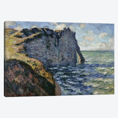 The Cliff of Aval, Etretat, 1885  Canvas Print #BMN3205} by Claude Monet Canvas Artwork
