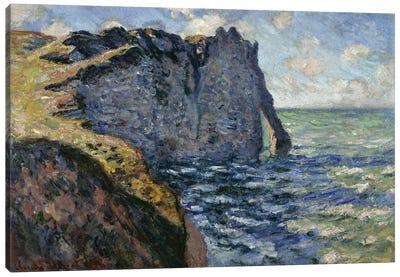 The Cliff of Aval, Etretat, 1885  Canvas Art Print