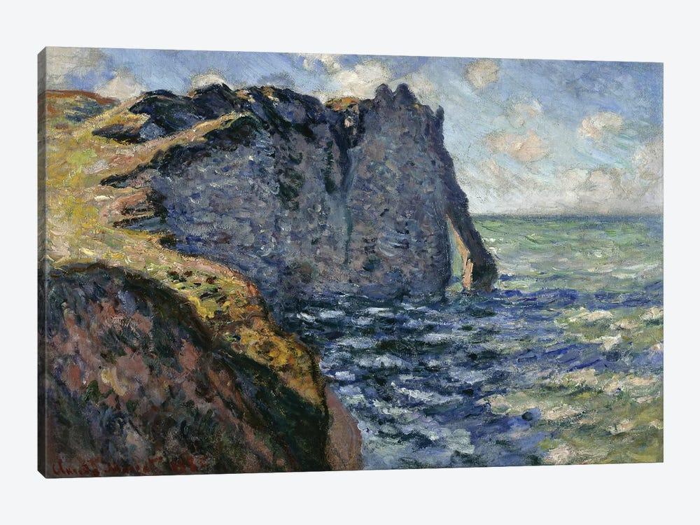 The Cliff of Aval, Etretat, 1885  by Claude Monet 1-piece Canvas Art Print