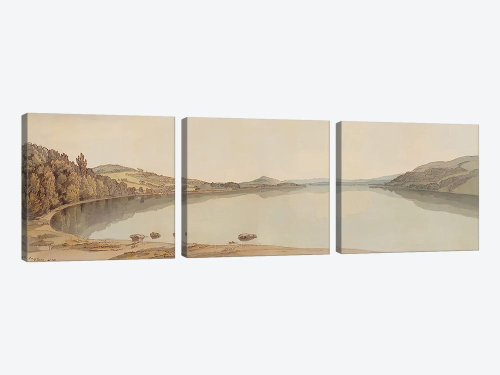 Lake Windermere, 1786  by Francis Towne 3-piece Canvas Art