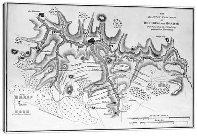 Map showing the Russian positions at the Battle of Borodino, c.1812  Canvas Print #BMN3207
