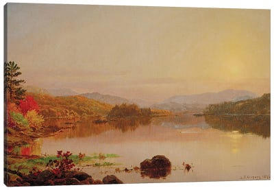 Lake Wawayanda, 1876  Canvas Art Print