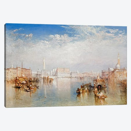 View of Venice: The Ducal Palace, Dogana and Part of San Giorgio, 1841 Canvas Print #BMN3210} by J.M.W. Turner Canvas Art