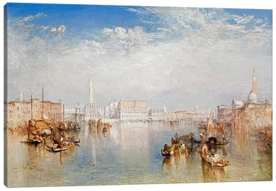 View of Venice: The Ducal Palace, Dogana and Part of San Giorgio, 1841  Canvas Art Print