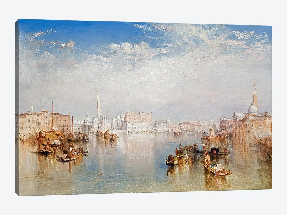View of Venice: The Ducal Palace, Dogana and Part of San Giorgio, 1841  by J.M.W. Turner 1-piece Canvas Print