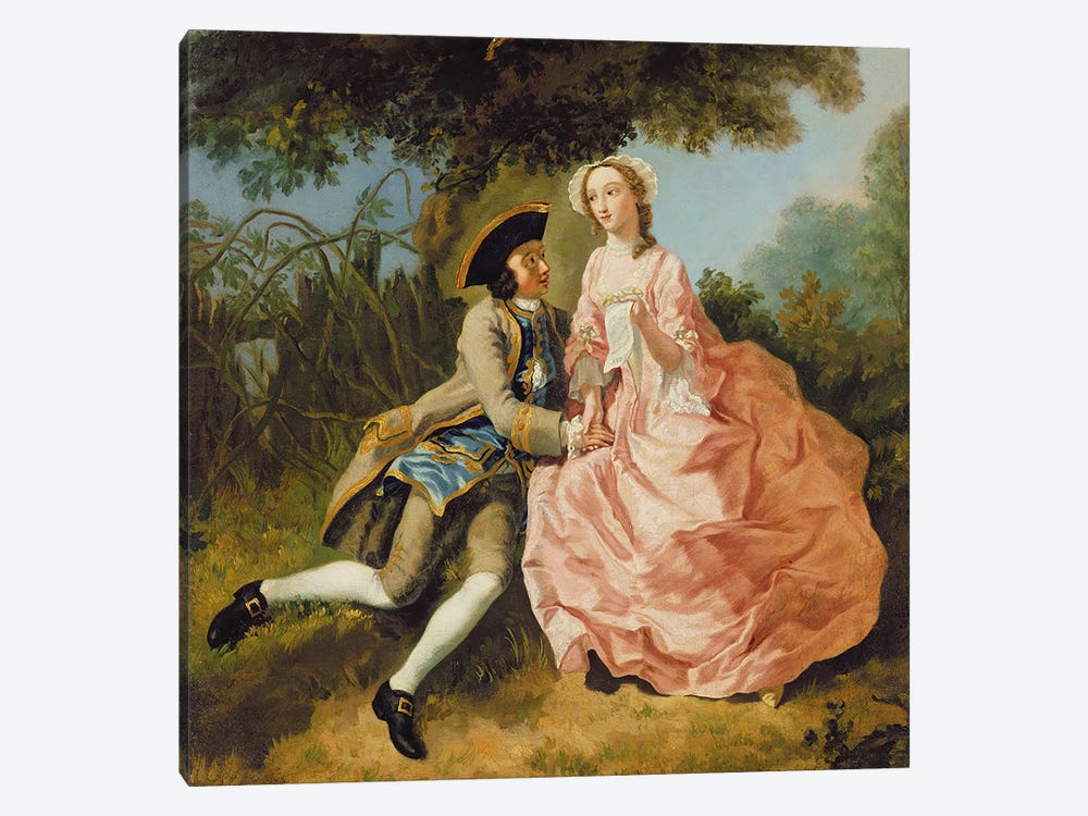 Lovers in a landscape, c.1740  1-piece Canvas Wall Art