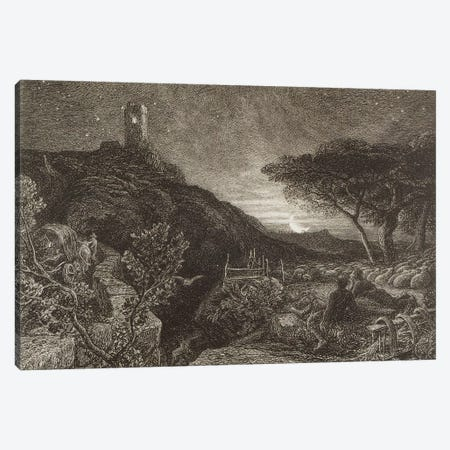 The Lonely Tower, 1879  Canvas Print #BMN3212} by Samuel Palmer Canvas Art