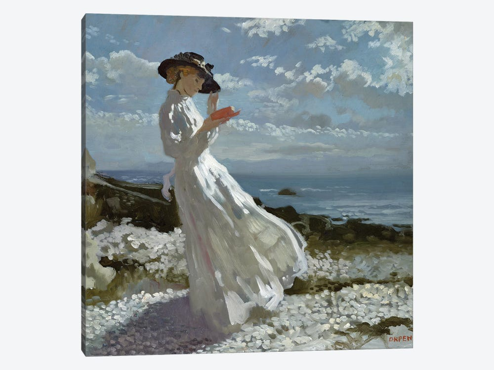 Grace reading at Howth Bay  by Sir William Orpen 1-piece Art Print