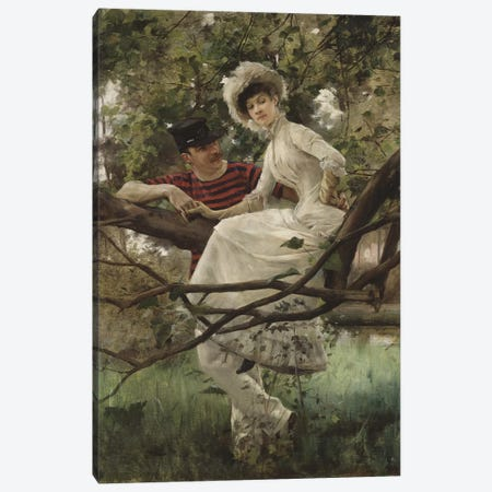 Idyll, 1925  Canvas Print #BMN3215} by Carl Larsson Art Print