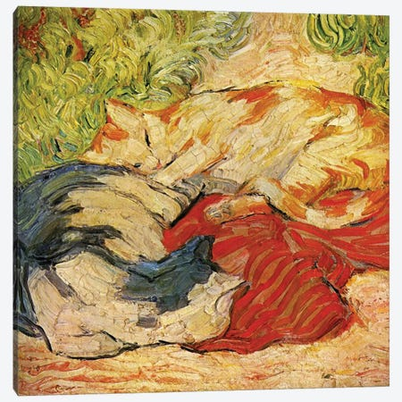 Cats, 1909-10  Canvas Print #BMN3217} by Franz Marc Canvas Art Print