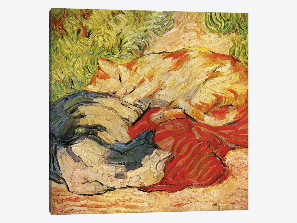 Cats, 1909-10  by Franz Marc 1-piece Canvas Art