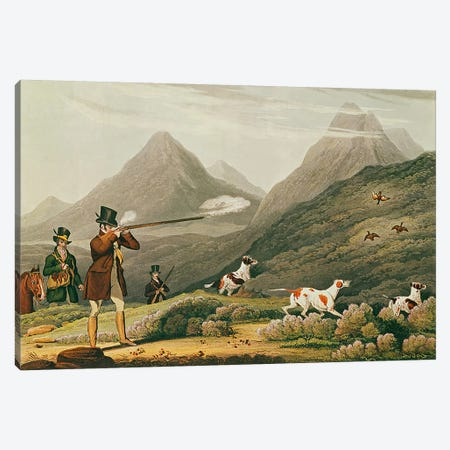 Grouse Shooting  Canvas Print #BMN3218} by James Pollard Canvas Art