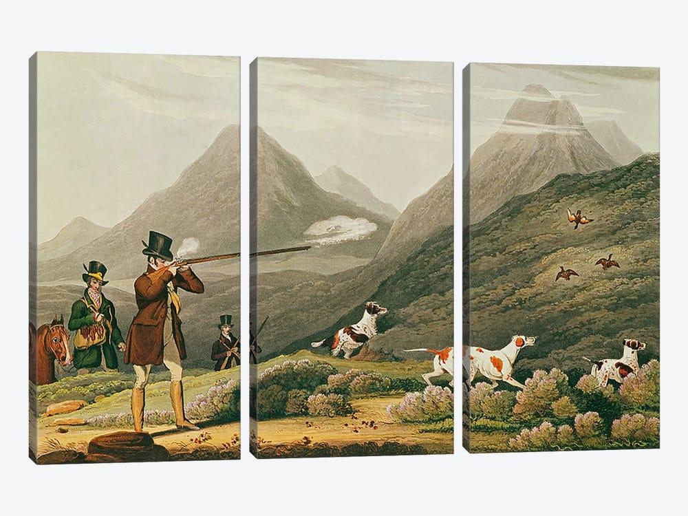 Grouse Shooting  by James Pollard 3-piece Canvas Art Print