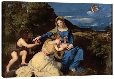 The Virgin and Child with Saints, 1532  Canvas Art Print