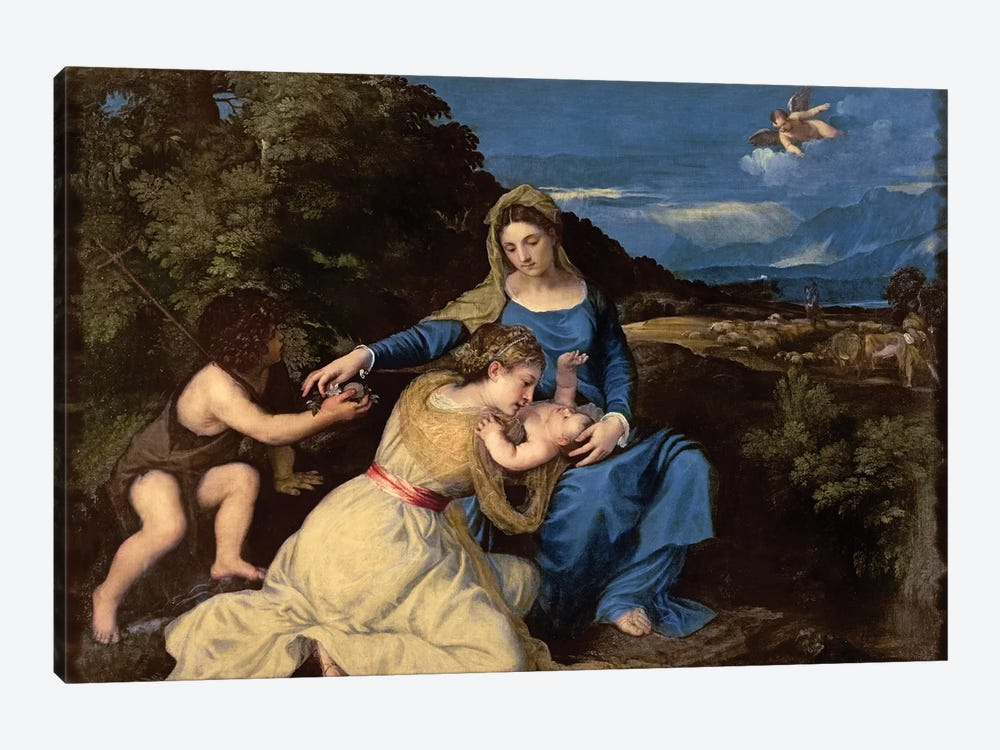 The Virgin and Child with Saints, 1532  by Titian 1-piece Canvas Art