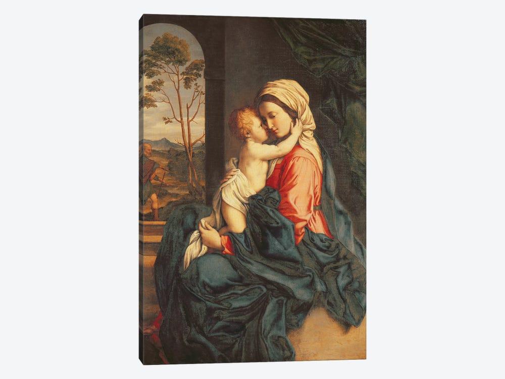The Virgin and Child Embracing  by Il Sassoferrato 1-piece Canvas Artwork