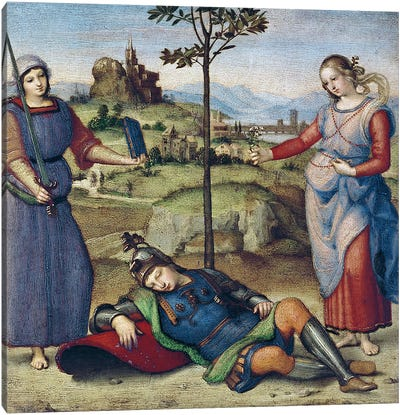 Vision of a Knight, c.1504  Canvas Art Print