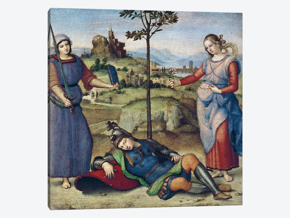 Vision of a Knight, c.1504  by Raphael 1-piece Canvas Print