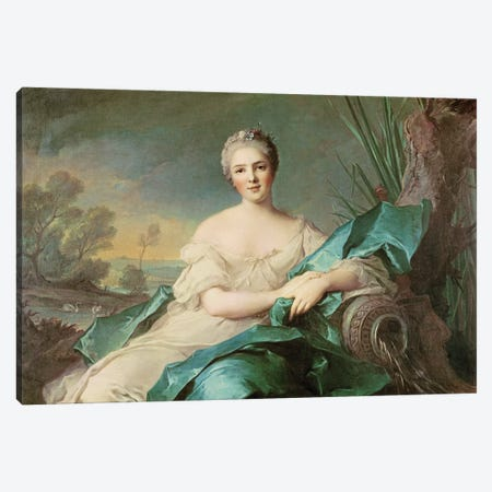 Victoire de France as the element of Water, 1750-1  Canvas Print #BMN3231} by Jean-Marc Nattier Canvas Artwork