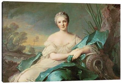 Victoire de France as the element of Water, 1750-1  Canvas Art Print