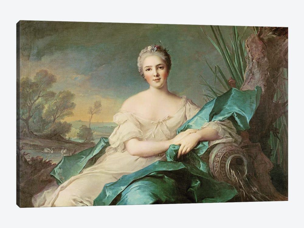 Victoire de France as the element of Water, 1750-1  by Jean-Marc Nattier 1-piece Canvas Art