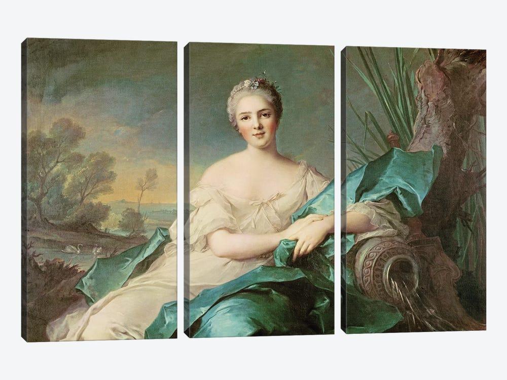 Victoire de France as the element of Water, 1750-1  by Jean-Marc Nattier 3-piece Canvas Artwork