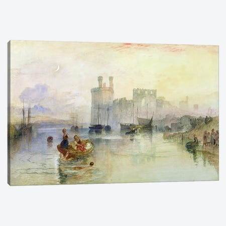 View of Carnarvon Castle  Canvas Print #BMN3234} by J.M.W. Turner Art Print