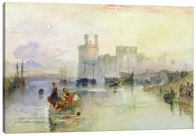 View of Carnarvon Castle  Canvas Art Print